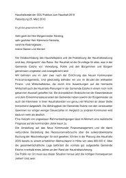 Haushaltsrede des CDU-Fraktionsvorsitzenden Dr.Rochus Franzen ...