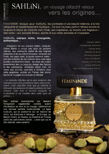 vers les origines... - SAHLiNi Parfums