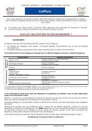 Coiffure - Chambre de Métiers et de l'Artisanat des Hauts-de-Seine