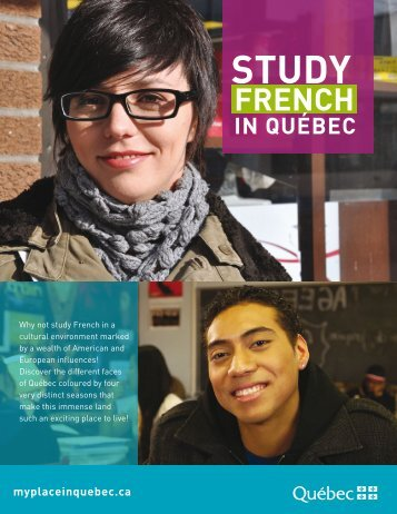 Studying French in Québec - Ministère des Relations internationales ...
