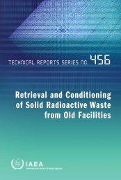 Retrieval and Conditioning of Solid Radioactive ... - Publications