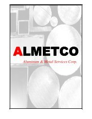 Table of Contents - Aluminum & Metal Services Corp.