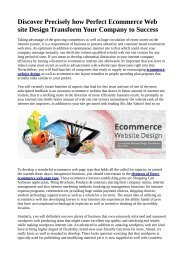 Discover Precisely how Perfect Ecommerce Web site Design Transform Your Company to Success.pdf
