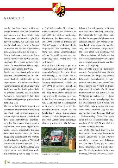 Vorwort - Feuerwehr Lermoos