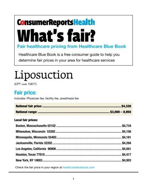 Liposuction (Healthcare Blue Book) - Consumer Health Choices
