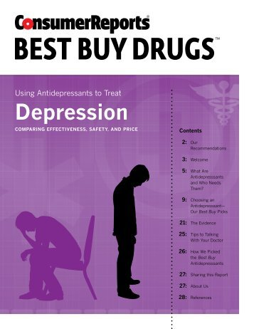 Antidepressants compared - Consumer Reports Online