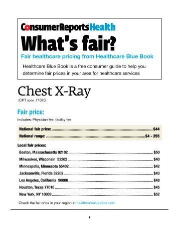 chest x ray healthcare blue book   consumer health choices