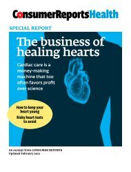 The business of healing hearts - Consumer Health Choices