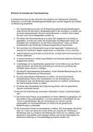 Ethische Grundsätze der Feuerbestattung In Übereinstimmung mit den