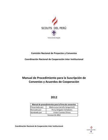 Manual de Procedimiento para Convenios - Scouts del Perú