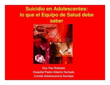 (Microsoft PowerPoint - Suicidio en adolescentes, lo que se ... - Icmer