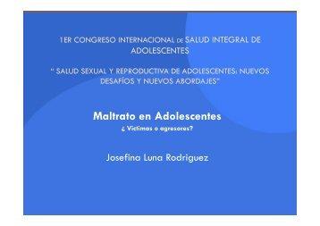 Maltrato en Adolescentes - Comité Adolescencia ALAPE