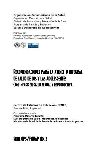 Recomendaciones para la atención integral de salud - CIDBIMENA