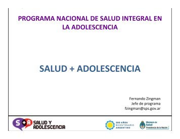 Programa Nacional de Salud Integral en la Adolescencia ... - codajic