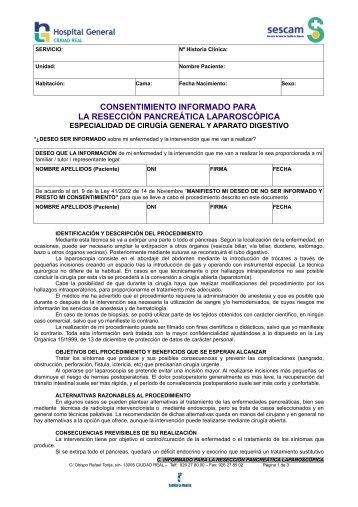 SERVICIO: CIRUGÍA GENERAL Y APARATO DIGESTIVO - hgucr