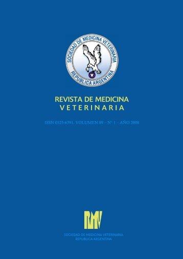 revista de medicina veterinaria - Facultad de Ciencias Veterinarias