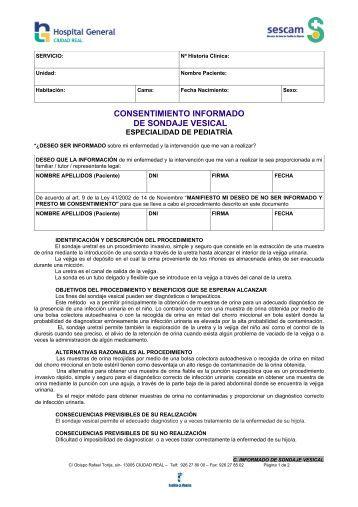 CONSENTIMIENTO INFORMADO DE SONDAJE VESICAL - hgucr