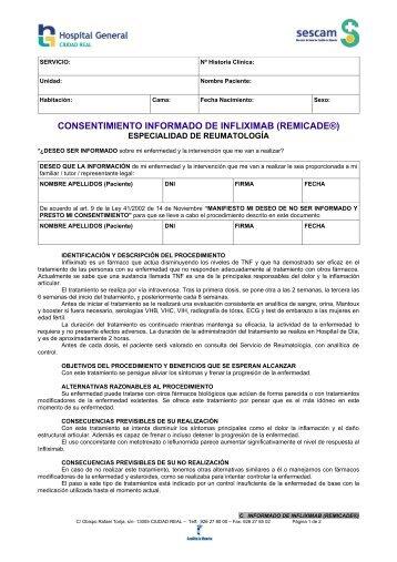 consentimiento informado de infliximab (remicade®) - hgucr