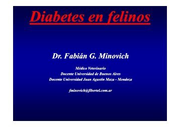 Diabetes - Facultad de Ciencias Veterinarias
