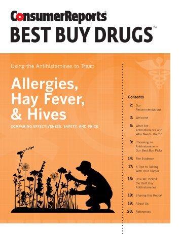 Antihistamines compared - Consumer Reports Online