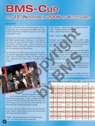 BMS-Cup am 22. November 2006 in Stuttgart von Ute Ristau
