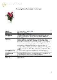 Flowering Indoor Plants 2012 - Nominerede - Floradania.dk