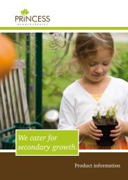 We cater for secondary growth.