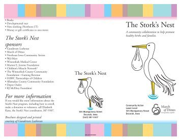 The Stork's Nest - Northeast Iowa Community Action Corporation