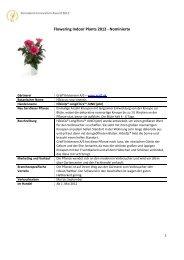 Flowering Indoor Plants 2012 - Nominierte - Floradania.dk