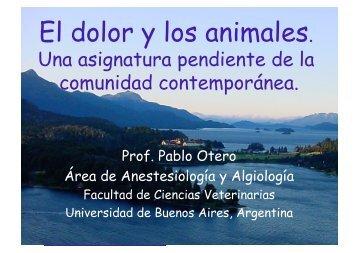 El dolor y los animales. - Facultad de Ciencias Veterinarias