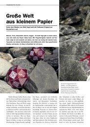 Große Welt aus kleinem Papier - Origami Deutschland