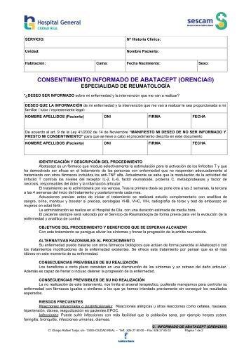 consentimiento informado de abatacept (orencia®) - hgucr
