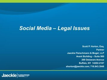 Social Media – Legal Issues