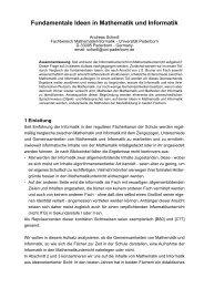 Fundamentale Ideen in Mathematik und Informatik - Didaktik der ...