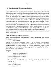 Kapitel 10 - Funktionale Programmierung - A. Schwill - 1997