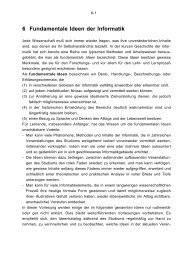 Kapitel 6 - Fundamentale Ideen der Informatik