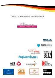 Deutsche Werbeartikel Hersteller 2013