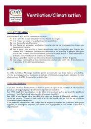 fiche VENTILATION CLIMATISATION