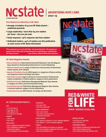 Advertising rates - NC State Alumni Association