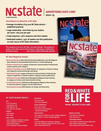 Advertising rates - NC State Alumni Association