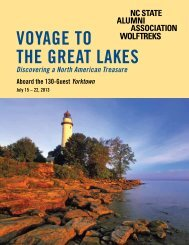 Voyage to the great Lakes - NC State Alumni Association