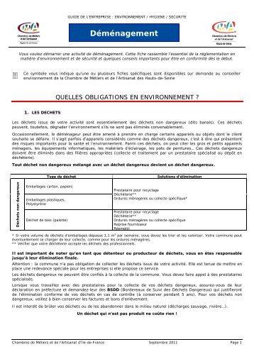 Déménagement - Chambre de Métiers et de l'Artisanat des Hauts-de ...