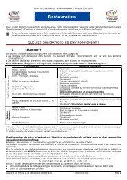 Restauration - Chambre de Métiers et de l'Artisanat des Hauts-de ...