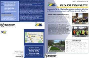 WILLOW ROAD STUDY NEWSLETTER - Village of Northfield