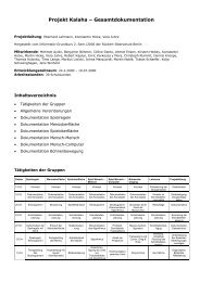 Projektdokumentation zum Kalaha-Spiel - E.Lehmann