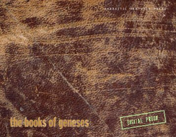 The Books of Geneses - Parasitic Ventures Press