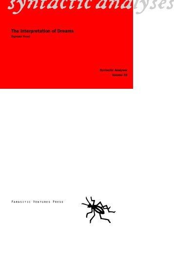 The Interpretation of Dreams :: Sigmund Freud - Parasitic Ventures ...