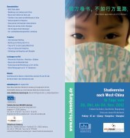 Der Flyer als pdf-download - China Forum Lüneburg