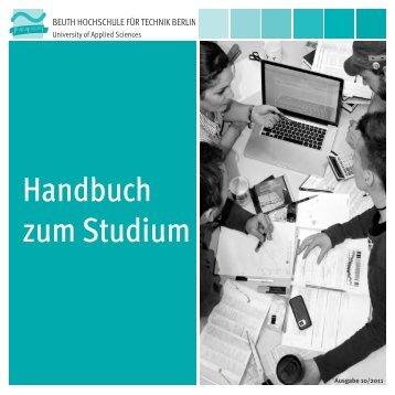 Handbuch zum Studium - Beuth Hochschule für Technik Berlin