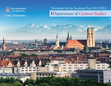 Department of German Studies Newsletter 2011/2012
